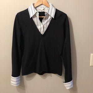 Sweater w/ Collar and Cuffs